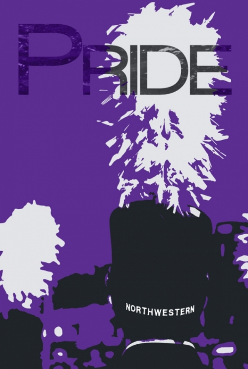 Limited Edition Northwestern University Marching Band PRIDE & GUTS Poster Set